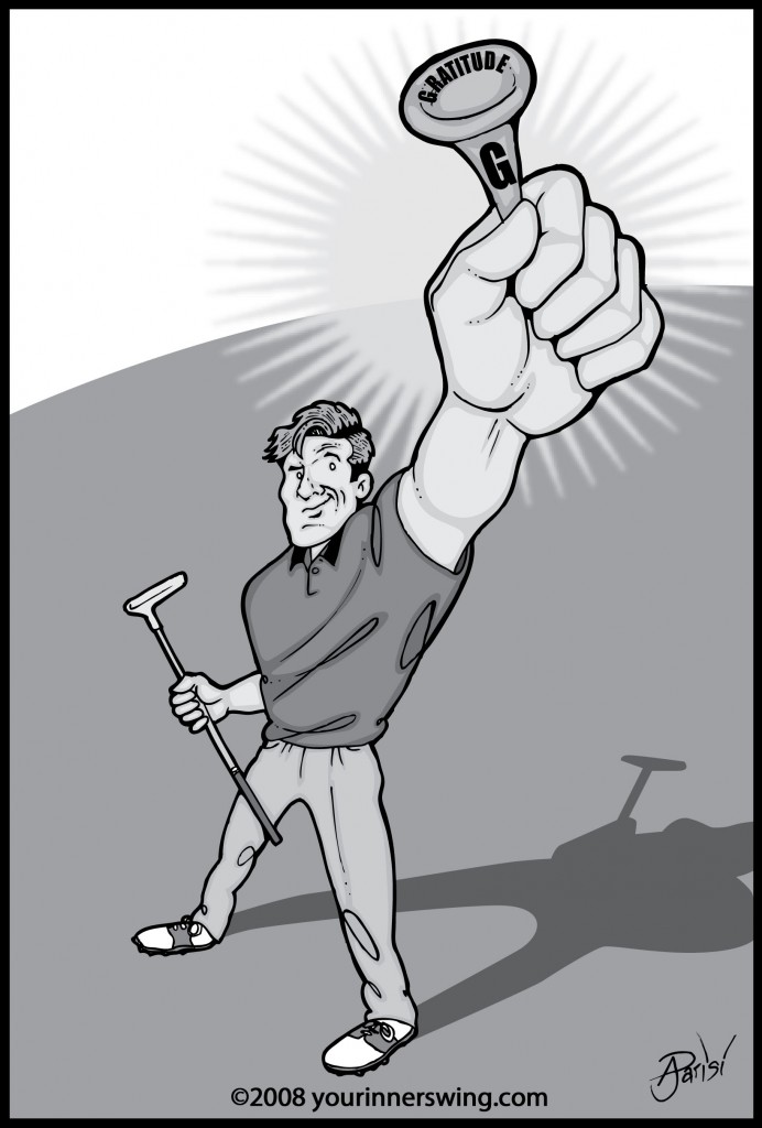 gratitude golf tee